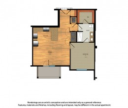 A2 / One Bedroom / 770 Sq. Ft.