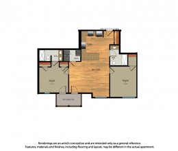 B4 / Two Bedroom / 1035 Sq. Ft.