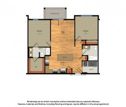 B5 / Two Bedroom / 1041 Sq. Ft.