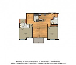B7 / Two Bedroom / 1236 Sq. Ft.