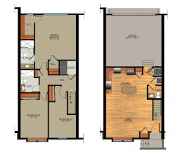 C1 / Three Bedroom / 1475 Sq. Ft.