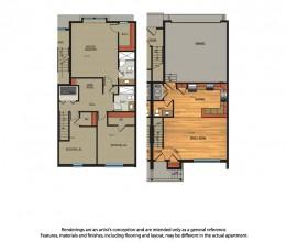 C2 / Three Bedroom / 1625 Sq. Ft.