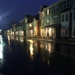 Rowhouses Exterior in Night