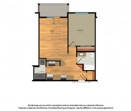 A1 / One Bedroom / 731 Sq. Ft.