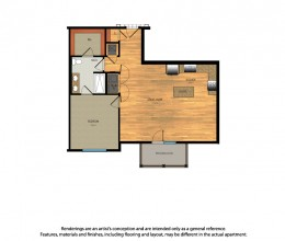 A3 / One Bedroom / 880 Sq. Ft.