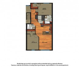 B1 / Two Bedroom / 1002 Sq. Ft.