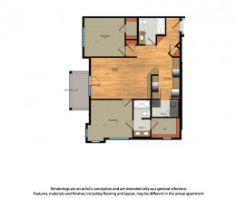 B2 / Two Bedroom / 1012 Sq. Ft.