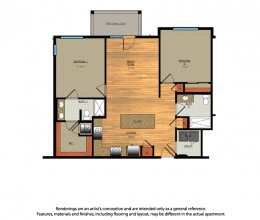 B3 / Two Bedroom / 1026 Sq. Ft.