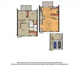 C3 / Three Bedroom / 1836 Sq. Ft.